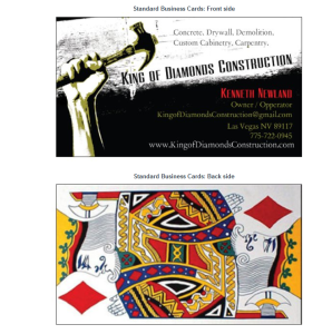 Playing card king of diamonds construction king of diamonds construction business card colourmoves