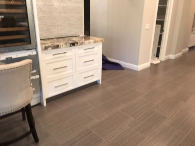 Custom Cabinets & Ceramic Floors
